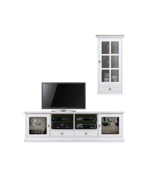 Composizione mobile porta tv per soggiorno, Art. 4015-QV