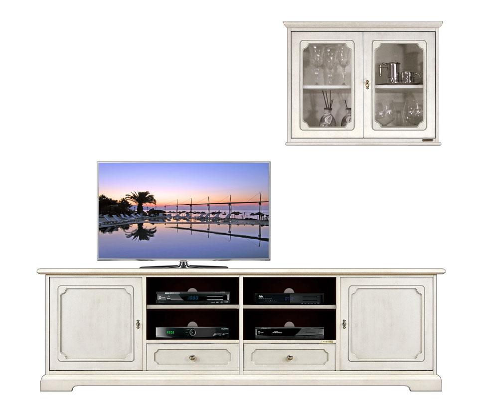 Mobile parete tv base e vetrina pensile arteferretto for Mobile parete tv