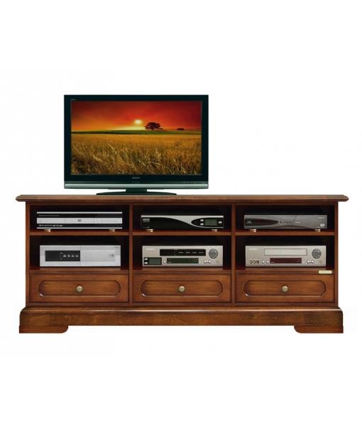 Mobile porta tv 3 vani 3 cassetti in legno, Art. 4020-B