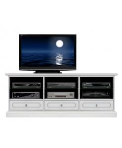 mobile porta tv in stile, mobile laccato, mobile per soggiorno, mobile tv in legno, arredo soggiorno, mobile in stile, mobile tv classico
