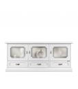 mobile porta tv con vetrina, mobile vetrina, mobile per soggiorno, mobile bianco, mobile in legno,