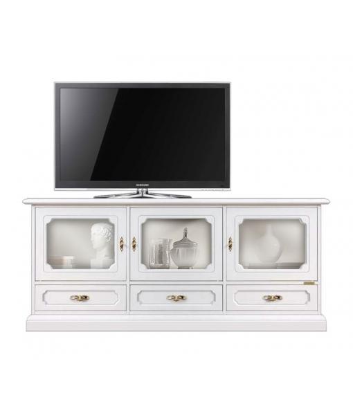 Mobile porta TV per sala da pranzo con 3 ante a vetrina, Art. 4025-AV