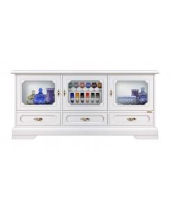 mobile porta tv con vetrina, mobile tv, mobile tv per soggiorno, mobile in legno, mobile in stile