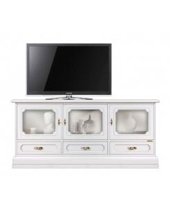 Mobile porta TV con 3 ante a vetro e 3 cassetti per la sala da pranzo