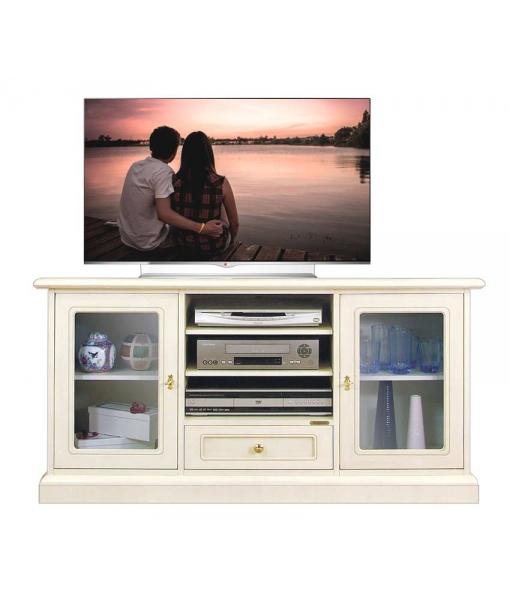 Mobile porta tv con antine a vetrina, Art. 4040-QV
