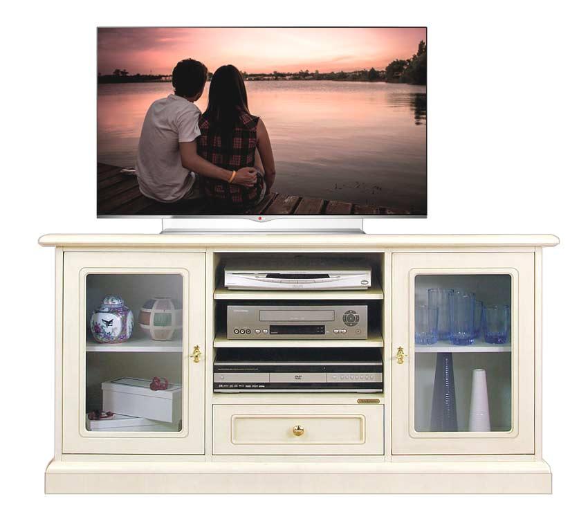 Mobile porta tv con vetrinette, mobile tv classico in legno ...