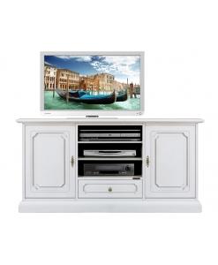 mobile tv, mobile tv laccato, mobile tv bianco, mobile tv in legno, arredo soggiorno, mobile tv elegante