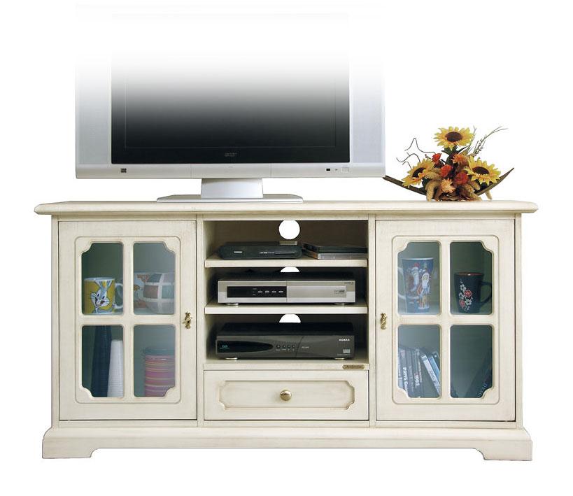 Mobile porta tv classico laccato con vetrinette, mobile tv in ...