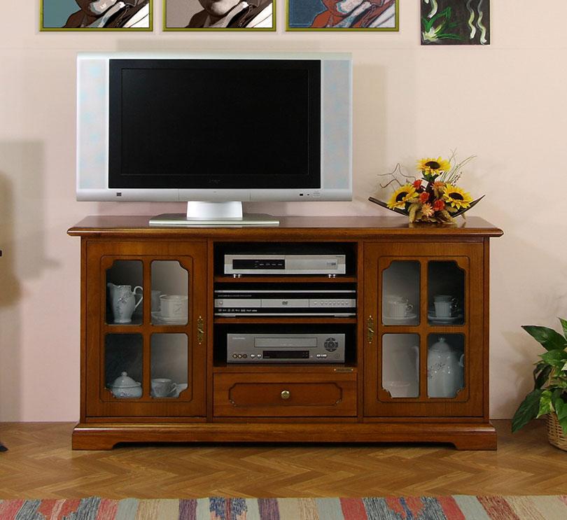Mobile porta tv classico con ante a vetrinetta arteferretto - Porta tv classico ...