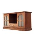 Mobile porta TV in legno stile classico con motivo tondo, perfetto per il soggiorno