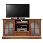 mobile tv, mobile tv in legno, arredo soggiorno, mobile con vetrinette, mobile porta tv,