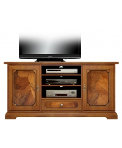 porta tv con radica, porta tv, mobile tv in legno, mobile tv con radica