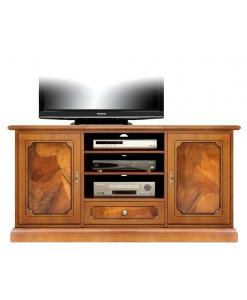 Porta tv con radica 2 ante 1 cassetto art 4040-as