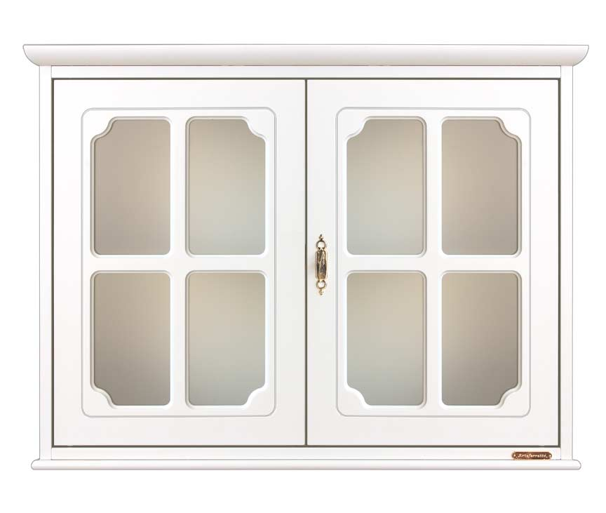 Vetrina vetrinetta pensile in legno classica nuova cucina soggiorno negozio ebay - Vetrina per cucina ...