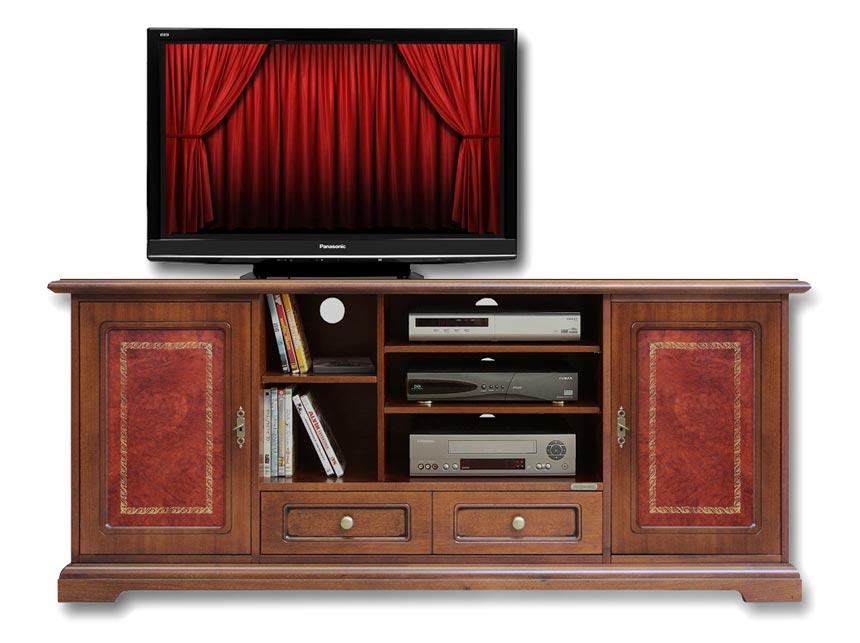 Mobile porta tv stile classico, mobile tv in legno con inserti in ...