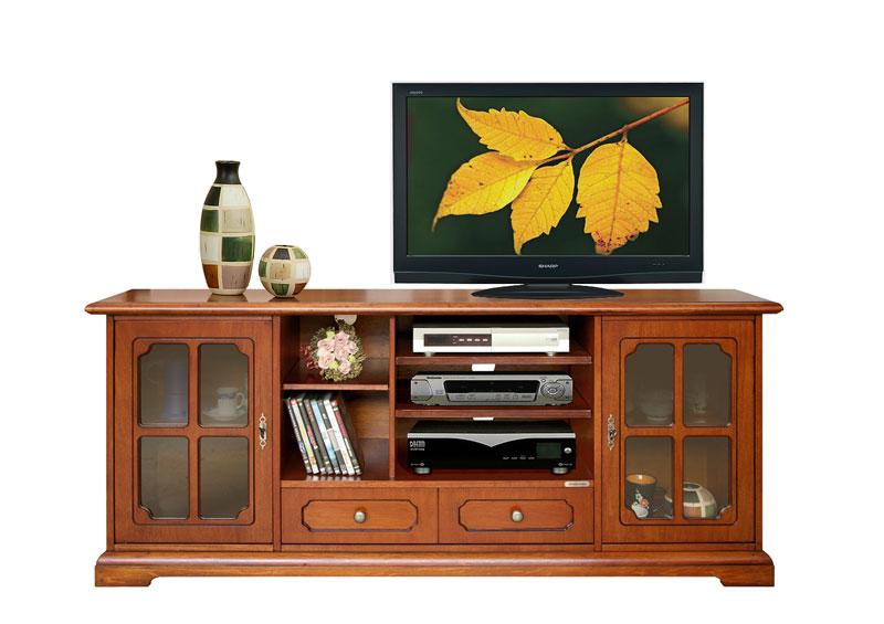Mobile porta tv classico con vetrinette prodotto - Mobile porta tv classico legno ...