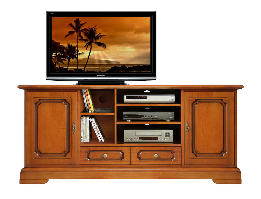 Mobile porta tv lcd plasma home cinema porta tv in legno - Mobile porta tv classico legno ...
