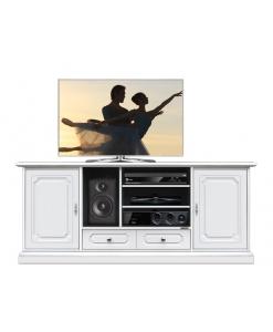 Mobile porta Tv 130 cm bianco laccato per il salotto