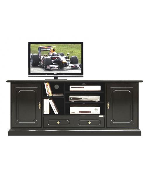 Mobile porta tv hi fi laccato nero arteferretto - Mobili porta hi fi ...