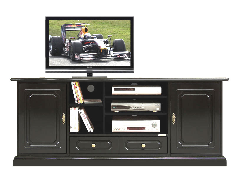 mobile porta tv hi fi laccato nero arteferretto. Black Bedroom Furniture Sets. Home Design Ideas