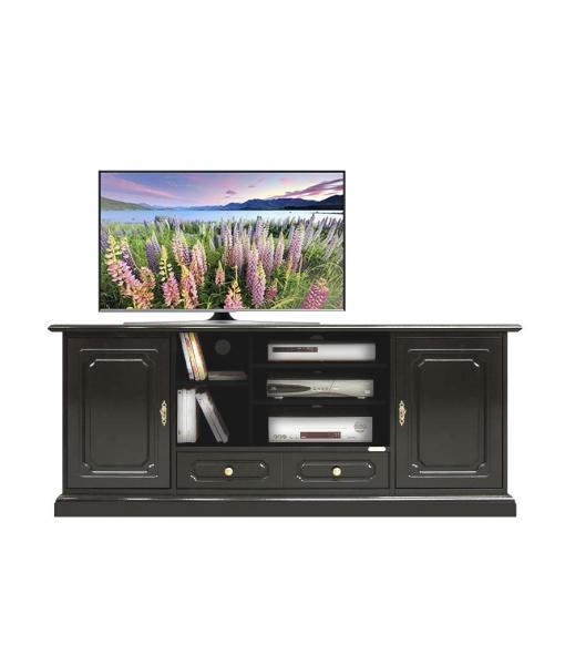 Mobile porta tv hi fi laccato nero arteferretto - Porta tv nero ...