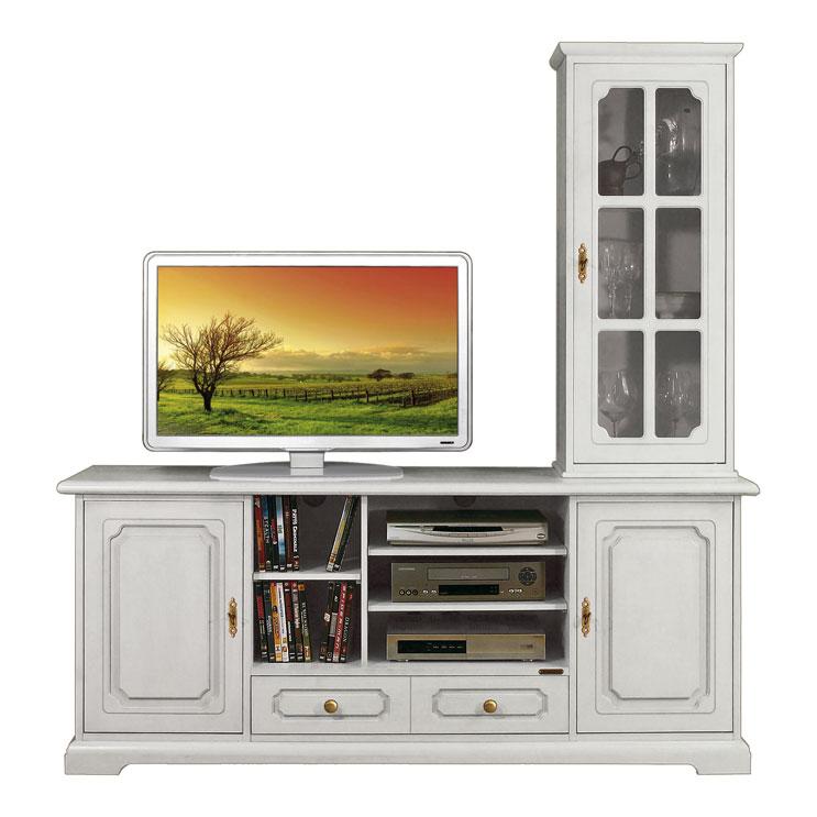 Mobile porta tv e vetrina composizione parete soggiorno - Mobile parete porta tv ...