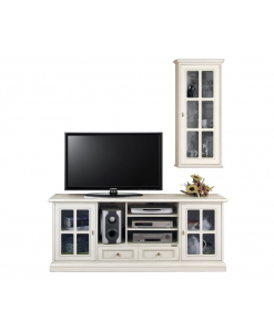 Composizioni mobili laccati per parete soggiorno