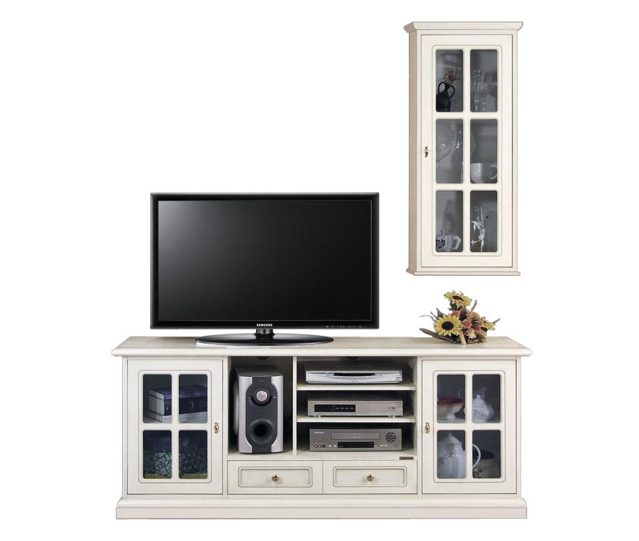 Mobile porta tv classico, parete soggiorno, mobile tv e vetrinetta ...