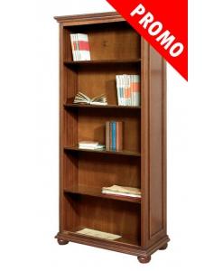 Libreria alta vani a giorno 4 ripiani stile classico