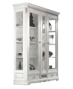 vetrina due ante con decoro in rilievo - arteferretto - Vetrina Contemporanea Soggiorno