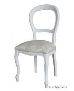 sedia laccata, sedia Luigi Filippo, sedia classica