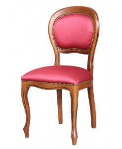 sedia Luigi Filippo schienale imbottito