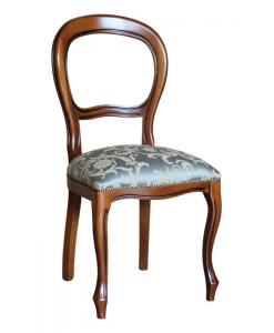 Sedia Luigi Filippo stile classico seduta imbottita