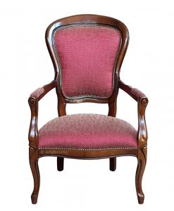 poltrona in stile Luigi Filippo, poltrona in stile, poltrona classica