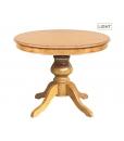 Tavolo rotondo allungabile per la sala da pranzo colore light