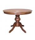 Tavolo rotondo classico in legno allungabile, Arteferretto