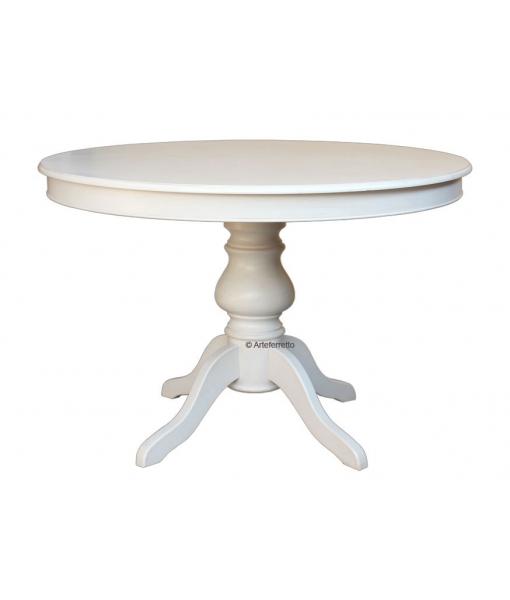 tavolo tondo, tavolo bianco, Art. 446-BI
