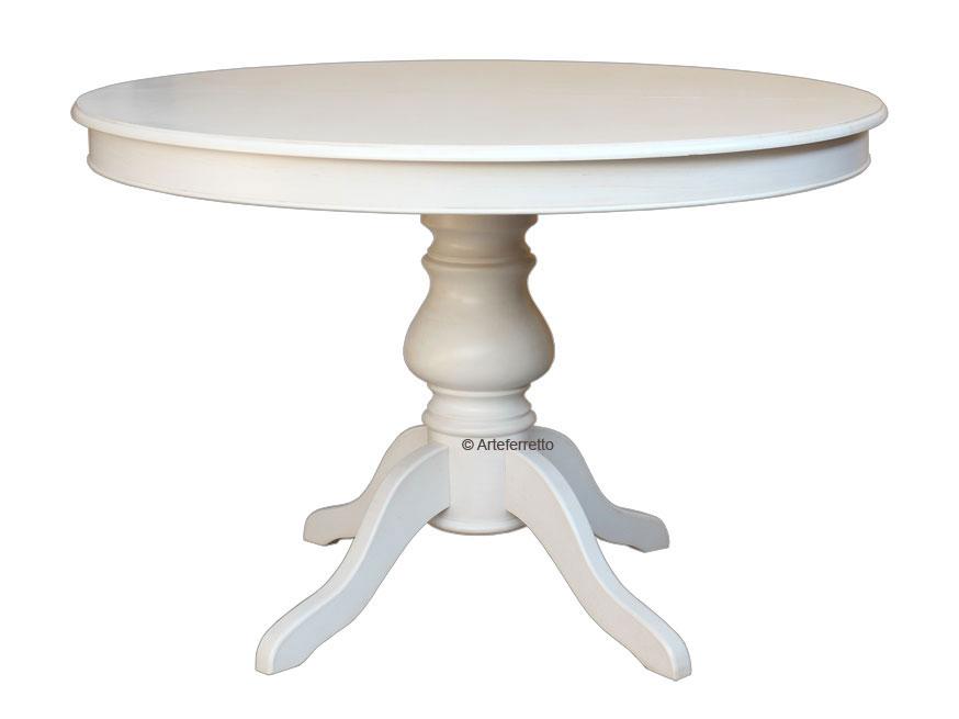 Tavolo tondo con allunghe stile Luigi Filippo 100 cm - ArteFerretto