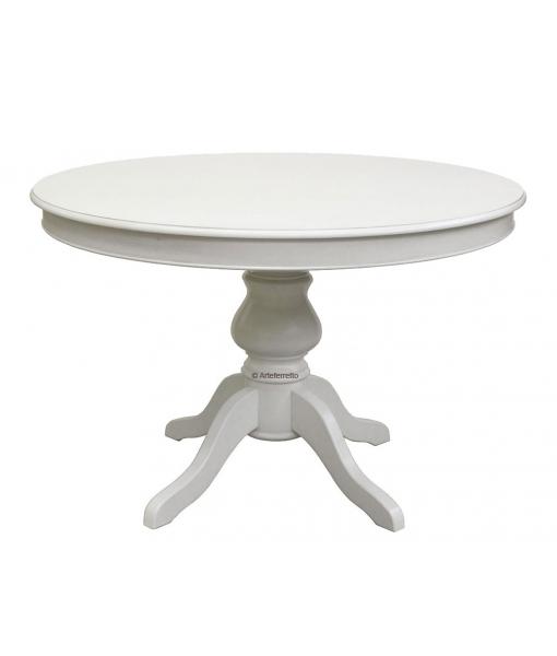 Tavolo tondo con allunghe stile luigi filippo 110 cm for Tavolo tondo bianco