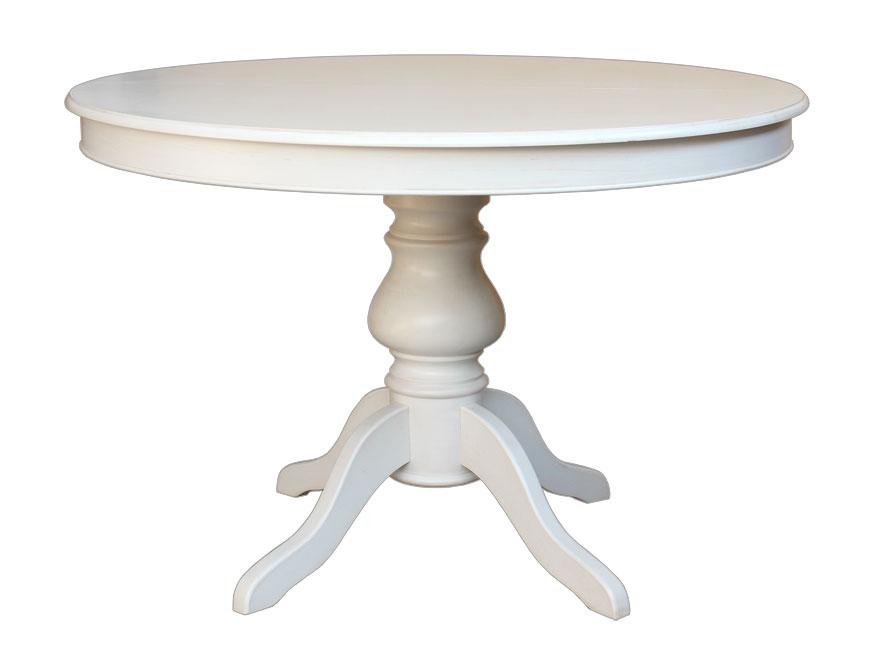 Tavolo tondo con allunghe stile luigi filippo 110 cm for Table de salle a manger 6 personnes jimi