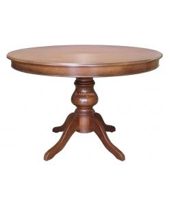 Tavolo rotondo classico in legno allungabile