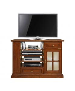 porta tv alto in legno stile classico