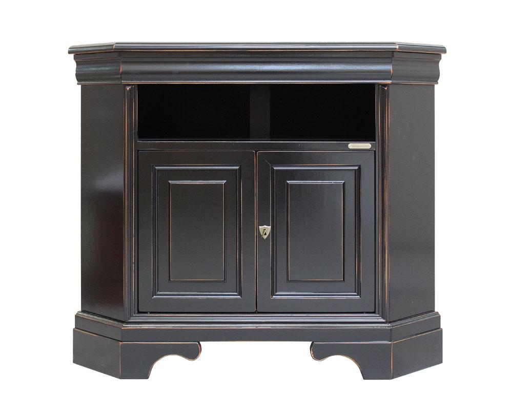 Porta Tv angolare nero spigolato - ArteFerretto