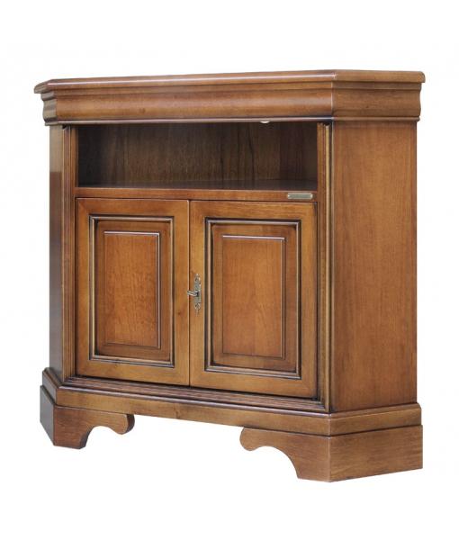 Porta tv ad angolo salva spazio in legno arteferretto - Mobili porta tv ad angolo ...