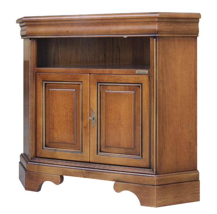 Porta tv ad angolo salva spazio in legno arteferretto - Mobili tv classici ...