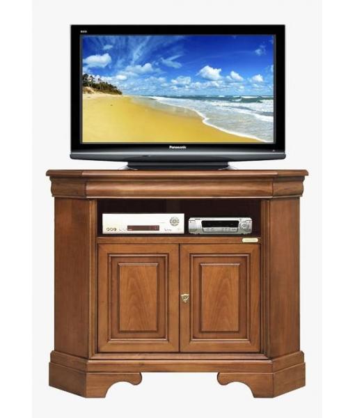 Porta tv ad angolo salva spazio in legno arteferretto - Mobile ad angolo porta tv ...