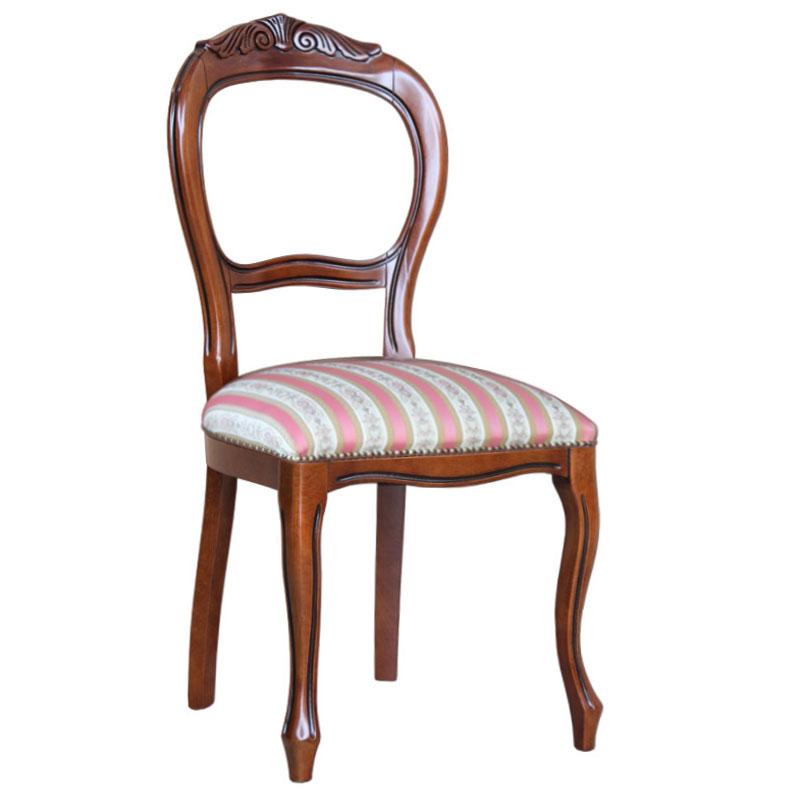 Sedia in stile luigi filippo con intaglio e comoda seduta for Sedia design comoda