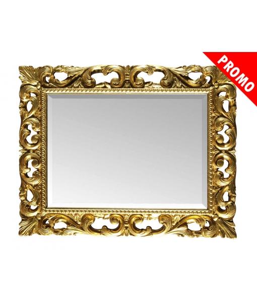 Specchiera stile classico cornice legno foglia oro, Art. 6705