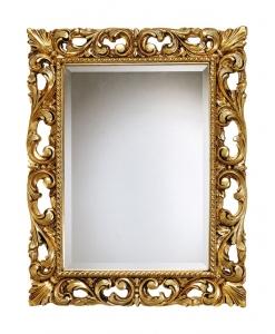 specchiera foglia oro classica
