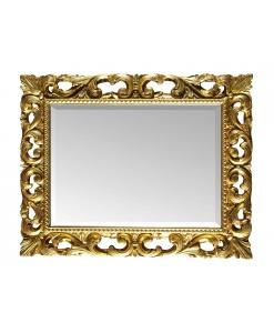 Specchiera stile classico cornice legno foglia oro